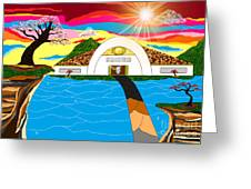 Home In Paradise Greeting Card by Lewanda Laboy