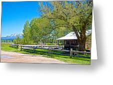 Home In Polebridge On West Side Of Glacier Np-mt Greeting Card