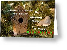 Home In The Tree W Text Greeting Card
