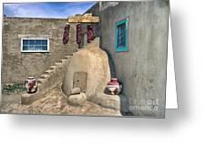 Home On Taos Pueblo Greeting Card by Sandra Bronstein
