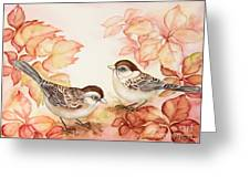 Home Sparrows Greeting Card
