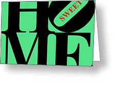 Home Sweet Home 20130713 Black Green Red Greeting Card