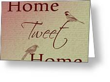 Home Tweet Home Birds Greeting Card