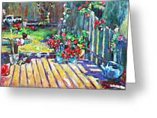 Home Where True Beauty Is Planted Greeting Card by Becky Kim