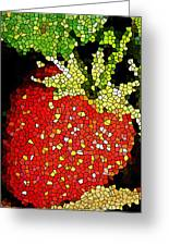 Homegrown Strawberry Mosaic Greeting Card