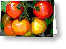 Homegrown Tomatoes Greeting Card by Annette Allman