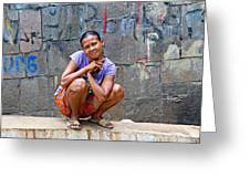 Homeless In Indonesia Greeting Card