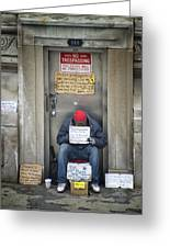 Homeless In The Usa Greeting Card
