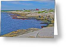 Homes Across Peggy's Cove-ns Greeting Card