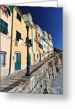 Homes In Bogliasco Greeting Card