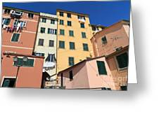 homes in Sori - Italy Greeting Card