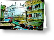 Homes In Tachilek-burma Greeting Card