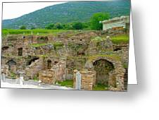 Homes Of The Rich In Central Ephesus-turkey Greeting Card