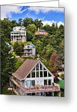 Homes On Mt. Harrison-smoky Mountains Gatlinburg Tennesse Greeting Card
