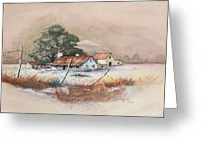 Homestead Greeting Card by Bob Hallmark