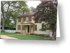 Homestead In Colonial Williamsburg Greeting Card