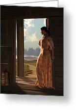 Homestead Woman Greeting Card