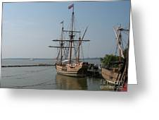 Homesteaders Sailing Ships Greeting Card