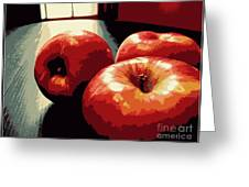 Honey Crisp Apples Greeting Card
