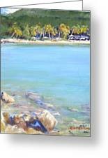 Honey Moon Beach Greeting Card