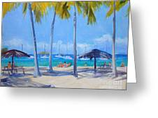 Honey Moon Beach Day Greeting Card