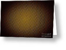 Honeycomb Background Greeting Card