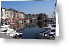 Honfleur By The Seine Greeting Card
