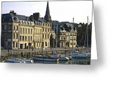 Honfleur Harbour. Calvados. Normandy. France. Europe Greeting Card by Bernard Jaubert