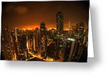 Hong Kong Gotham Greeting Card