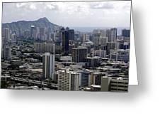 Honolulu - Diamond Head - Pacific Greeting Card