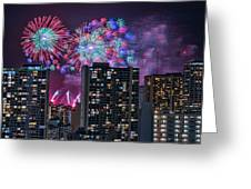 Honolulu Festival Fireworks Greeting Card