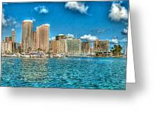 Honolulu Hi 2 Greeting Card