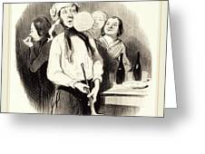 Honoré Daumier French, 1808-1879, Les Crêpes Greeting Card