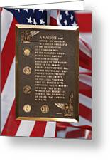 Honor The Veteran Signage With Flags 2 Panel Composite Digital Art Greeting Card