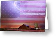 Honor To The Soldier And Sailor Everywhere Greeting Card