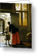 Hooch Boy & Bread, C1663 Greeting Card