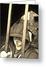 Hooded Prisoner Greeting Card