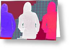 Hoodie Gang Graffiti Fashion Background Designs  And Color Tones N Color Shades Available For Downlo Greeting Card