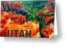 Hoodoos In Bryce Canyon Utah Greeting Card