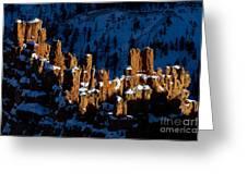 Hoodoos In Shadows Bryce Canyon National Park Utah Greeting Card