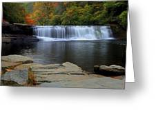 Hooker Falls In Color Greeting Card