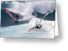 Ho'okipa Windsurfers Greeting Card