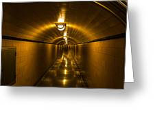 Hoover Dam Art Deco Tunnel Greeting Card