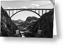 Hoover Dam Memorial Bridge Greeting Card
