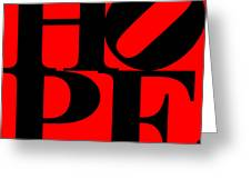Hope 20130710 Black Red Greeting Card by Wingsdomain Art and Photography