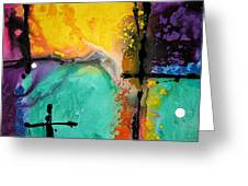 Hope - Colorful Abstract Art By Sharon Cummings Greeting Card