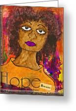 Hope For Tomorrow - Journal Art Greeting Card