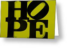 Hope In Yellow Greeting Card