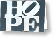 Hope Inverted Denim Greeting Card