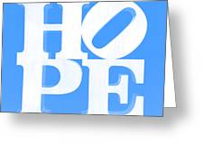 Hope Inverted Light Blue Greeting Card